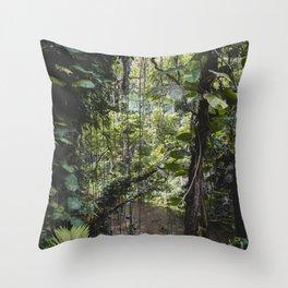 Hidden Jungle River Throw Pillow