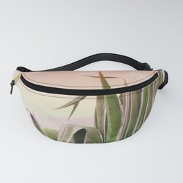 Agave in the Garden on Pastel Coral Fanny Pack