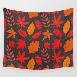 Red autumn leaves Wall Tapestry