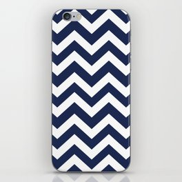 Space cadet - blue color - Zigzag Chevron Pattern iPhone Skin