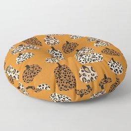 Leopard print pumpkins pattern - leopard pumpkins, halloween, fall, decor, fashion Floor Pillow