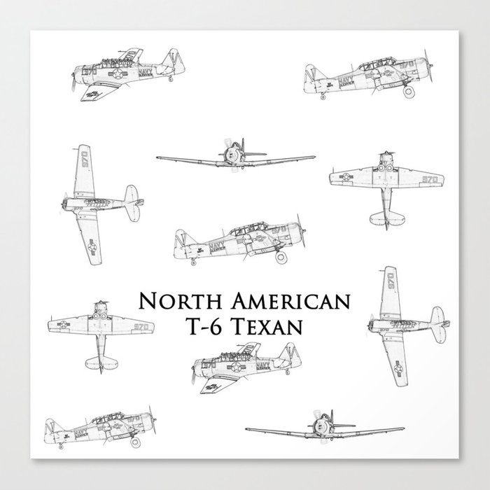 North american t 6 texan blueprint style artwork canvas print by north american t 6 texan blueprint style artwork canvas print malvernweather Image collections