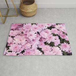 A Sea of Light Pink Chrysanthemums #1 #floral #art #Society6 Rug