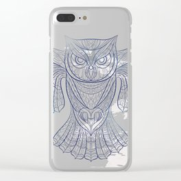 Ethnic Owl Clear iPhone Case