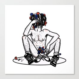 Sneaker Cerberus - censored Canvas Print