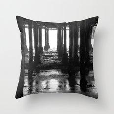 Under The Boardwalk Throw Pillow