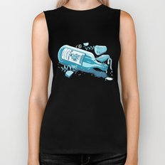 The Late Party Bird Gets the Worm Biker Tank