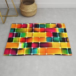 Abstract Colors in Grid by Jeanpaul Ferro Rug
