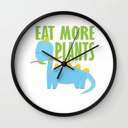 Dino kids vegetarian vegan school gift Wall Clock