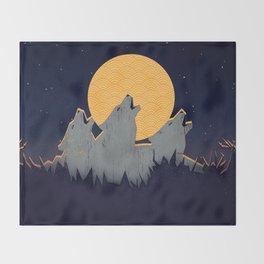 Midnight Sound Throw Blanket