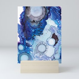 Blue Ocean Botanical Abstract, Carry Me Away Mini Art Print