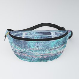 Monet The Water Lily Pond Pastel Ice Blue Pink Fanny Pack