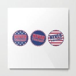 Never Trump (Triple) Metal Print