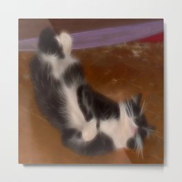 Cute sleeping kitty Metal Print