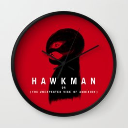 Hawkman or The Unexpected Vice of Ambition Wall Clock