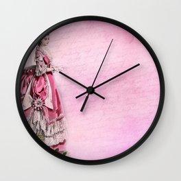 Vintage Woman Neck Gator Roses Vintage Lady Wall Clock