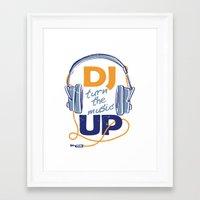 dj Framed Art Prints featuring DJ by Danilo De Donno