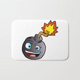 bomb explosive character mascot Bath Mat