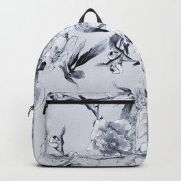 winter roses christmas pattern decor Backpack