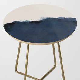 Abstract, blue, beige, indigo Side Table