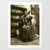 Dark Victorian Portrait Series: Lady Charlotte Nightshade, Her Majesty's Necromancer Portrait 2 Art Print