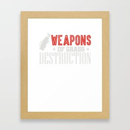 Weapons Of Grass Destruction funny Golf T-Shirt Framed Art Print