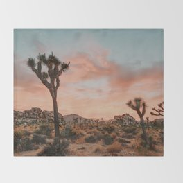 Joshua Tree IX / California Desert Throw Blanket