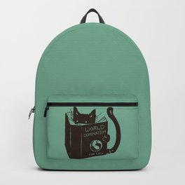 World Domination for Cats (Green) Backpack