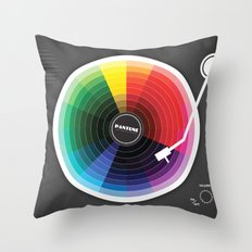 Pantune - The Color of Sound Throw Pillow