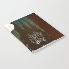 Into The Cold Winter Woods Notebook