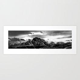 Luminous Mountain Sky Art Print