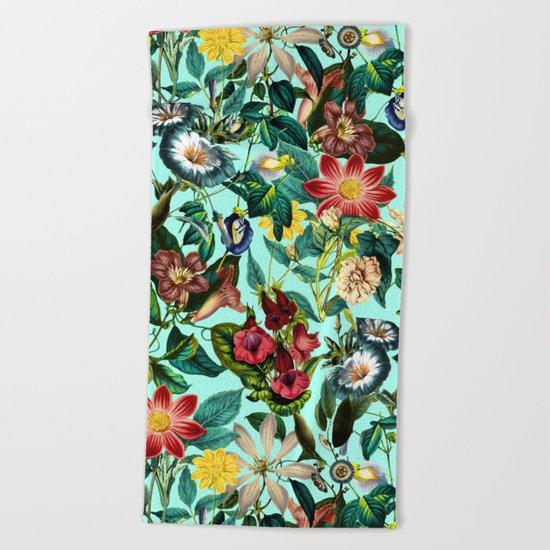 Summer Botanical Garden II Beach Towel