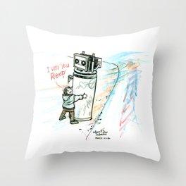 """I Wuv you Robot"" Throw Pillow"
