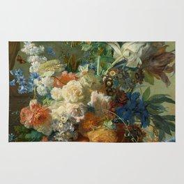 "Jan van Huysum ""Still Life with Flowers"" Rug"