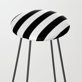 black stripes Counter Stool