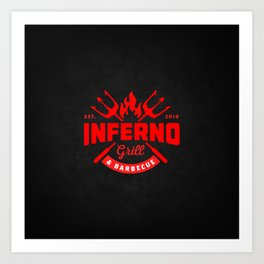 Inferno Grill and Kitchen Art Print