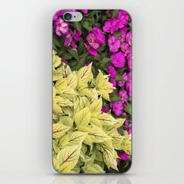 Flower Bed in Butchart's Garden iPhone Skin