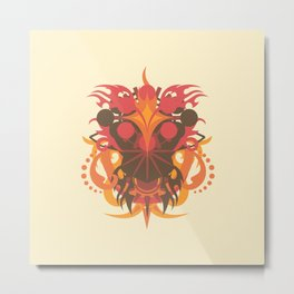 Abstraction Eighteen Hades Metal Print