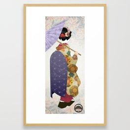 Chiyogami Maiko Framed Art Print