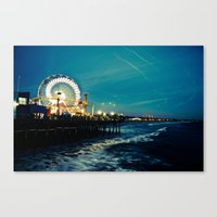 santa monica Canvas Prints featuring Santa Monica by Kingston Photography