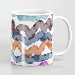 Ethnic wint. lines on white zig-zag Coffee Mug