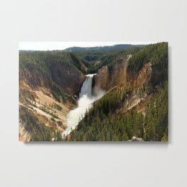 Majestic Upper Falls - Yellowstone Valley Metal Print