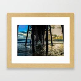 Sky Painting (Oceanside Pier) ~ 10-2015 Framed Art Print