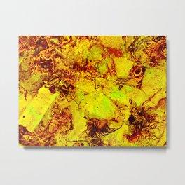 Texture Glow Metal Print