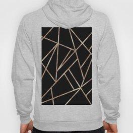 Classic Black Rose Gold Geo #1 #geometric #decor #art #society6 Hoody