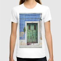 portugal T-shirts featuring DOOR, LISBON, PORTUGAL by Sébastien BOUVIER