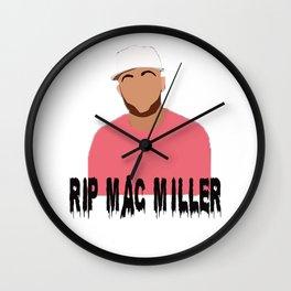 mac miller x rip Wall Clock