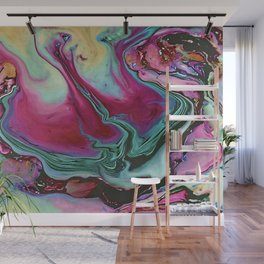Colorful abstract marbling Wall Mural