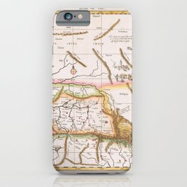 Vintage Map Print - 1698 Map of Central Asia iPhone Case