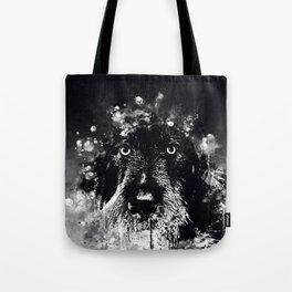wire haired dachshund dog wsbw Tote Bag